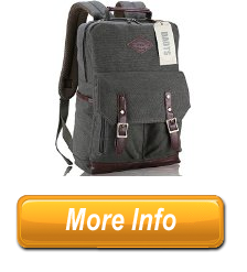 An DAOTS Vintage Canvas Laptop Backpack Rucksack for College School Travel Daypack 1Year Warranty